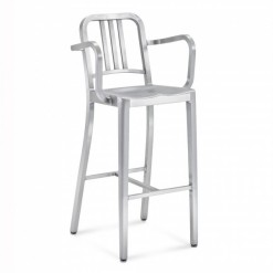 Navy Barstool With Arms 1006-30A Emeco