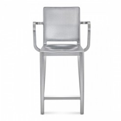 Hudson Counter Stool With Arms HUDCTR-24A Emeco
